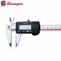 Guanglu цифровой штангенциркуль 0 150/200 мм с твердосплавный челюсти Электронный штангенциркуль измерения Инструменты Измерительные приборы
