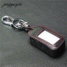 Jingyuqin Новый A93 кожаный чехол для Starline A93 A63 автосигнализации пульт дистанционного управления ЖК-дисплей брелок крышка