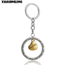 XIAOJINGLING Trendy Pendant Keychains Fashion Keyring Family Gifts For Dad Mom Daughter Son Brother Sister Grandma Birthday Gift(China)