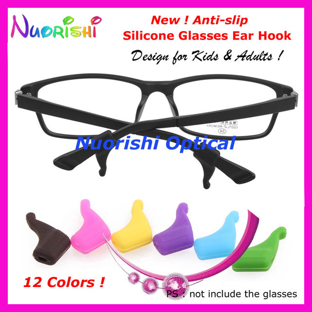 d26e59d5fe9 20 pairs T2600 12 Colors Sunglass Eyewear Glasses Kids Adult Silicone Ear  Hook Temple Tip Sports Anti Slip Holder Free Shippping