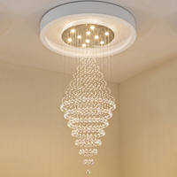 Modern LED Crystal Chandeliers Lighting Fixtures Ceiling Chandelier Lamps Hanging Lamp With D70CM H180CM VDE UL