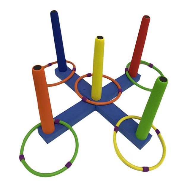 Дети забавная игра классический интеллект Развивающие игрушки для детей несколько колец дети кольцеброс литой круг набор игрушки 25