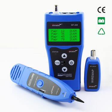 Free Shipping Noyafa NF-308B Network Cable Tester Lan Tracker Wire tester Cable Locator RJ45 BNC RJ11 Telephone Line Tester free shipping noyafa nf 308 wire fault locator lan cable tester check wiring error in rj45 bnc cable
