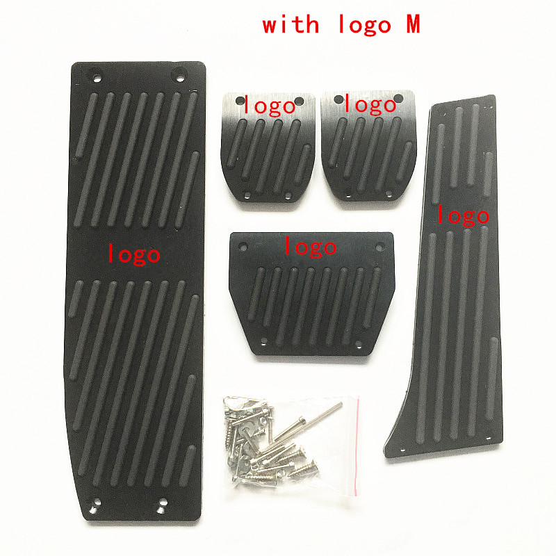 Fashion Silver/Black Aluminium Alloy Car Pedals Rest For <font><b>BMW</b></font> X1 M3 <font><b>E30</b></font> E36 E39 E46 E87 E90 E91 E92 E93 Car-Styling <font><b>accessories</b></font> image