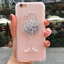 цена на Glitter Liquid Case for LG X Power K210 K450 K220 K220DS k220y LS755 US610 F750K X Style K200DS X Skin F740L Wine Glass Cover