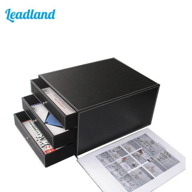 Aliexpress.com : Buy 3 Drawer PU Leather File Cabinet Desk ...