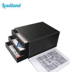 3-Drawer PU Lederen Archiefkast Bureau Document File Organizer Lade Houder Bestand Document Lade