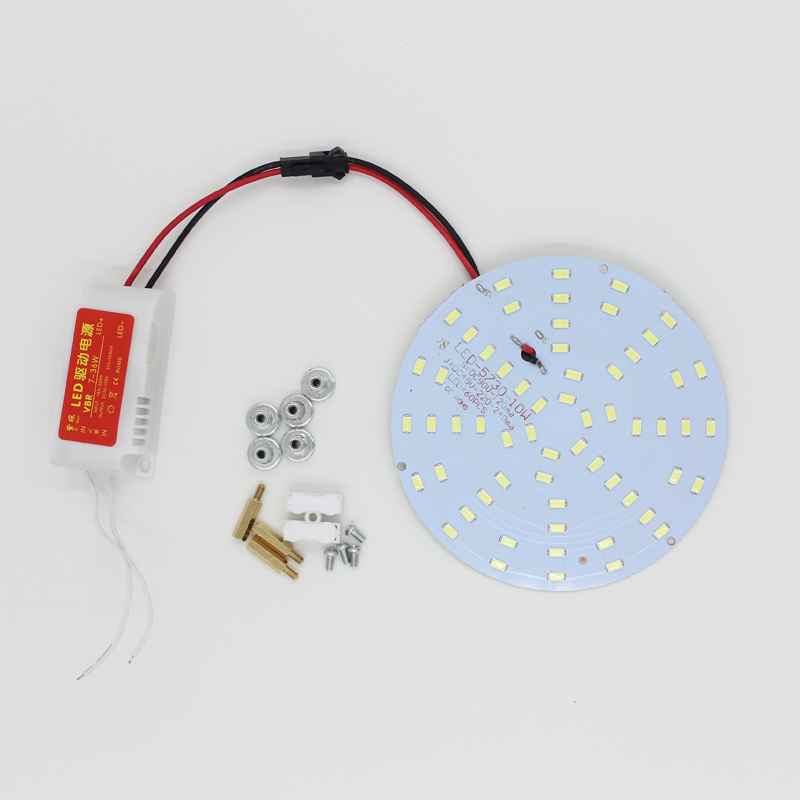 DIY 10W 180-265V LED Panel Lamp Round 5730 Magnetic LED Ceiling Panel Light Plate Aluminium Board 10w white 1200lm diy led ceiling panel light lamp board driver 85 265v