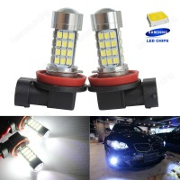 2x H11 H8 Bulb SAMSUNG 54SMD High Power LED Headlight Fog Light Daytime Lamp DRL CA275