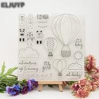 KLJUYP 1 Sheet DIY Fly High Transparent Design Transparent Clear Rubber Stamp Seal Paper Craft Scrapbooking