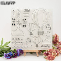 KLJUYP 1 Sheet DIY Fly High Transparent Design Transparent Clear Rubber Stamp Seal Paper Craft Scrapbooking