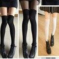 Tatuagem da pele meias de veludo preto meias coxa costura fino falso Tattoo falso joelho impresso Leggings meia calça