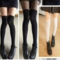 Tatuaje de la piel medias medias de terciopelo negro muslo costura delgado falso falso tatuaje de la rodilla impreso Leggings Sexy Pantyhose
