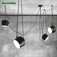 Nordic simple DIY creative personality chandeliers restaurant cafes modern indoor lights clothing store LED drums pendant lamp