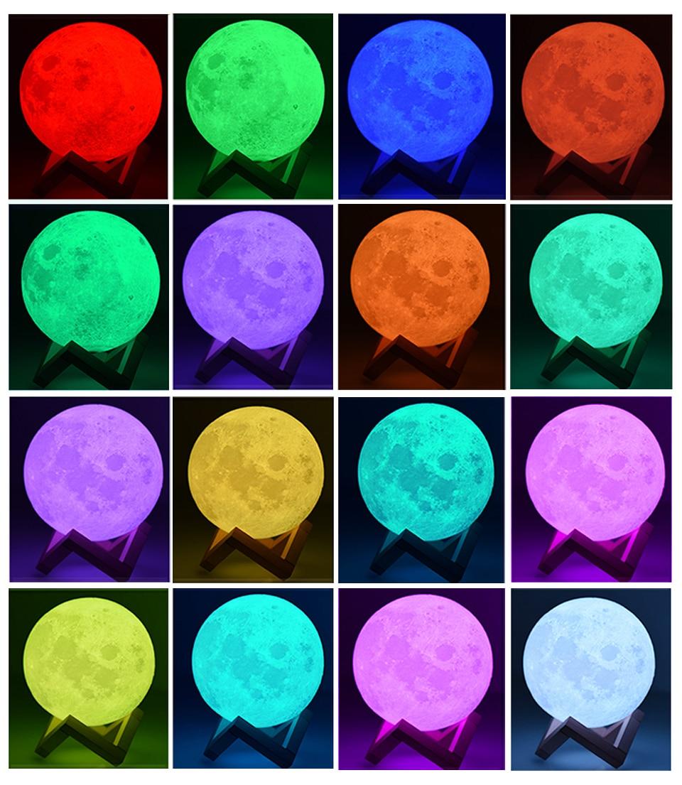 Moon Lamp - 16 Colors LED Night Lamp