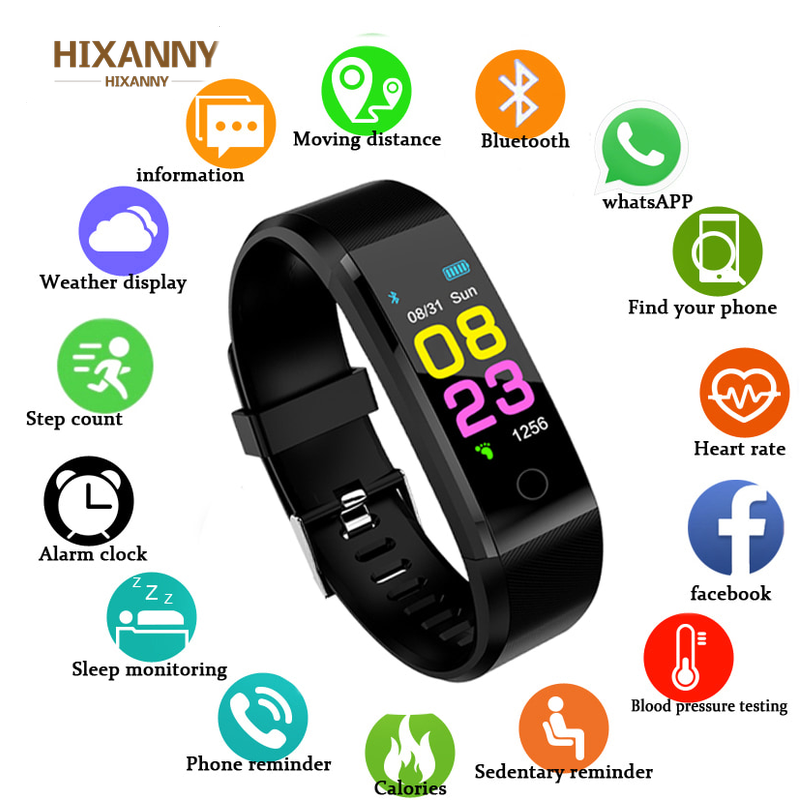 HIXANNY Smart Uhr  Frauen Herz Rate Monitor Blutdruck Fitness Tracker Smartwatch Sport Uhr ios android + BOX apple watch  men-in Smart Watches from Consumer Electronics
