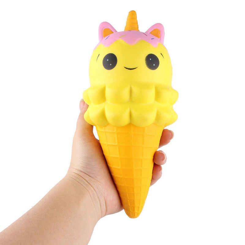 Kawaii Lucu Kuda Dua Kepala Unicorn Beruang Bintang Ice Cream Ponsel Tali Squeeze Lambat Rising Jumbo Hiasan Licin mainan Hadiah
