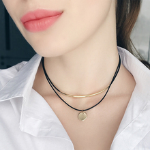 Gold Plated Choker with Coin Pendant