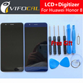 Para huawei honor 8 display lcd + touch screen + ferramentas fhd 100% nova substituição digitador assembléia para huawei honor 8 5.2 polegadas