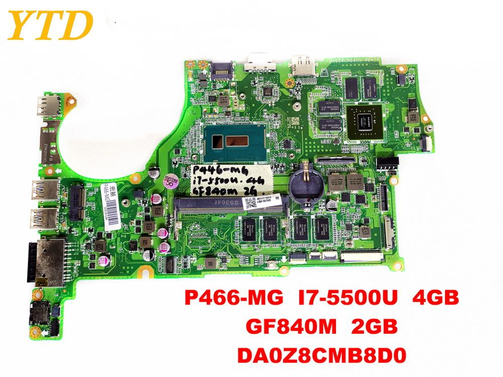 Original for font b ACER b font P466 MG laptop motherboard P466 MG I7 5500U 4GB