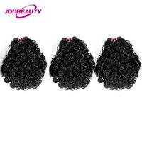 Addbeauty Brazilian Virgin Bouncy Curly Funmi Wave 3 Piece Human Hair Bundle Extension For Black Women