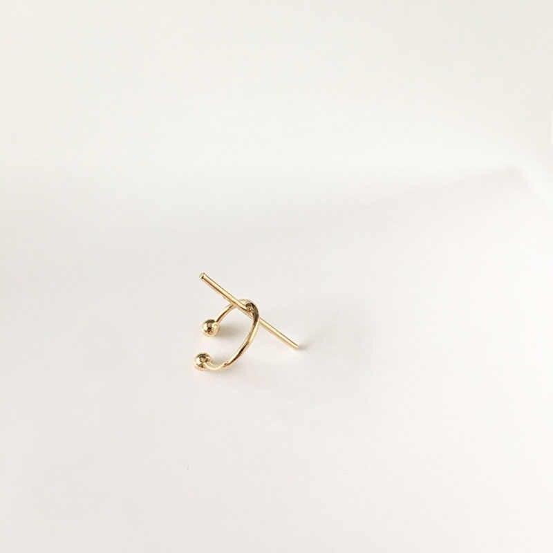 Ouro Brincos Clipe Sem Piercing Jóias Minimalistas Earcuff Não Perfurou Manguito Ouvido Coreano Uma Direção Bijoux Femme Sieraden