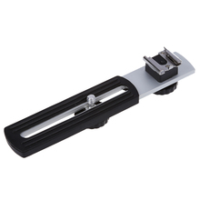 Universal 1/4″ Sliding Screw Metal Flash Bracket for Digital Camera
