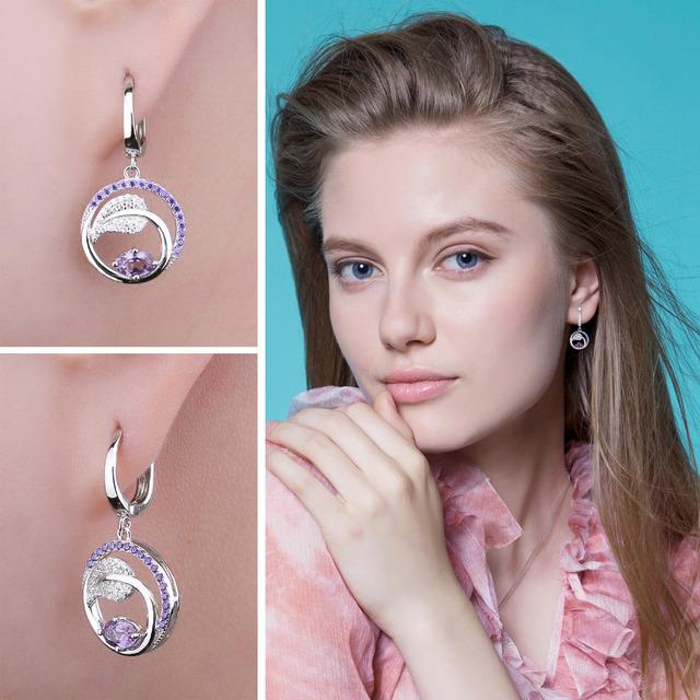 Alexandrite Sapphire Drop Earrings
