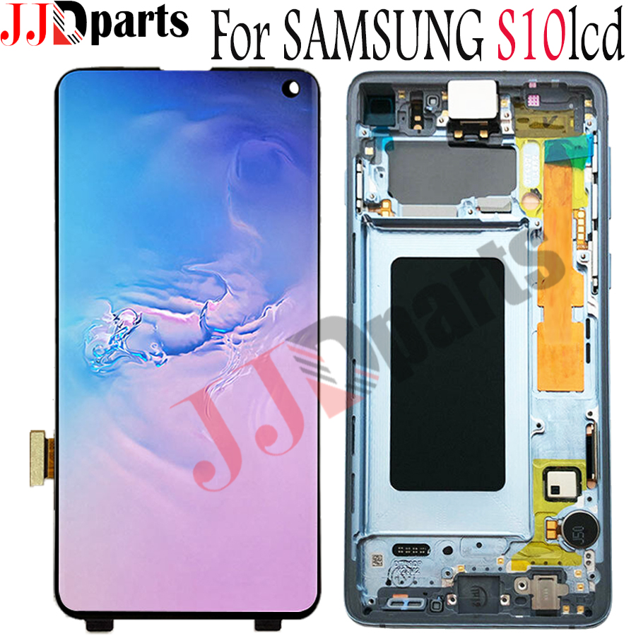 AMOLED For Samsung Galaxy S10 lcd SM-G973F/DSSM G973U LCD Display Touch Screen Digitizer For SAMSUNG S10 SM-G973W Screen ReplaceAMOLED For Samsung Galaxy S10 lcd SM-G973F/DSSM G973U LCD Display Touch Screen Digitizer For SAMSUNG S10 SM-G973W Screen Replace