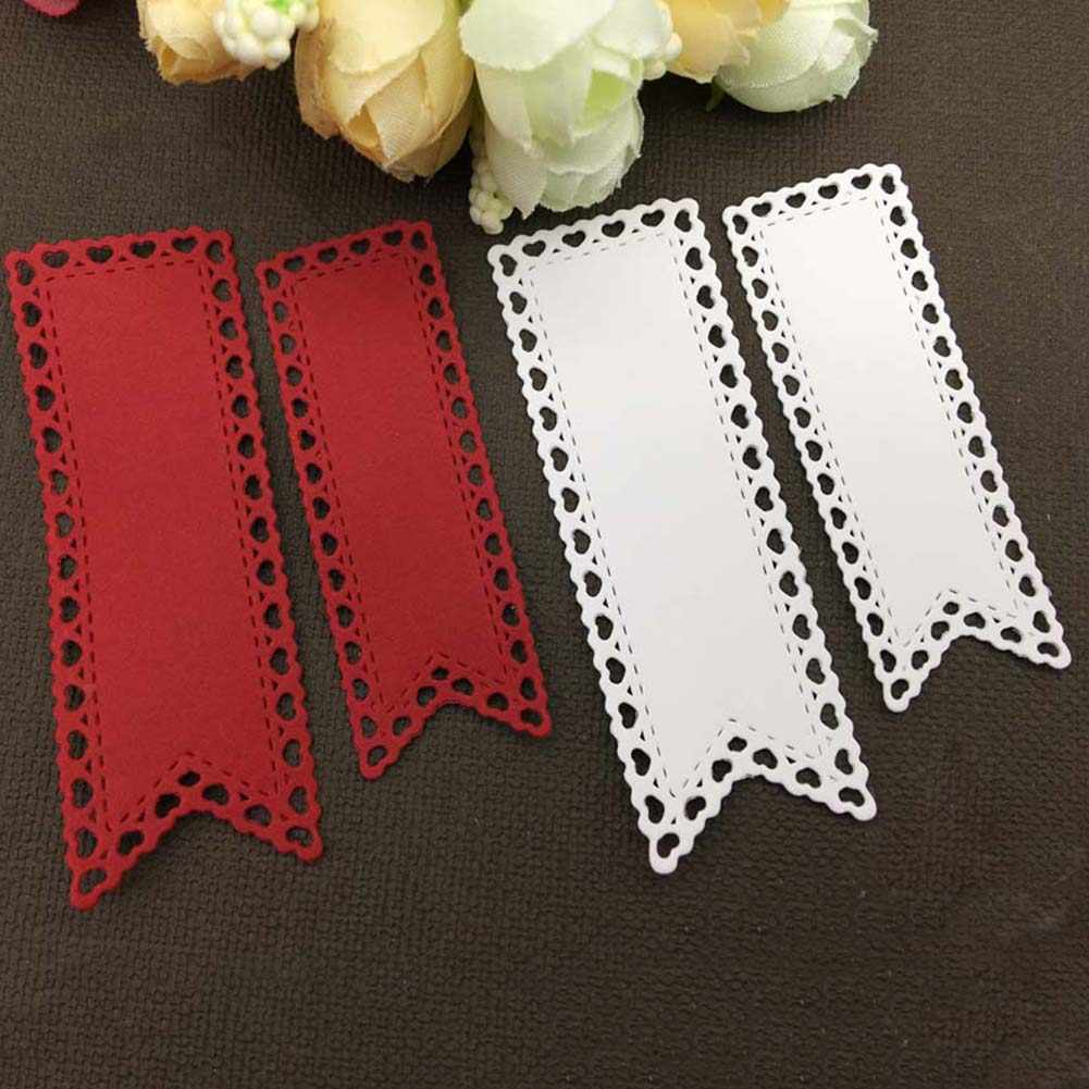 2 шт баннер тег сердце флаг металлические режущие штампы DIY скрапбук бумага трафарет для открыток