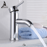 Fashion Style Durable Brushed Chrome Waterfall Bathroom Basin Faucet Single Handle Sink Mixer Tap Grifo Para
