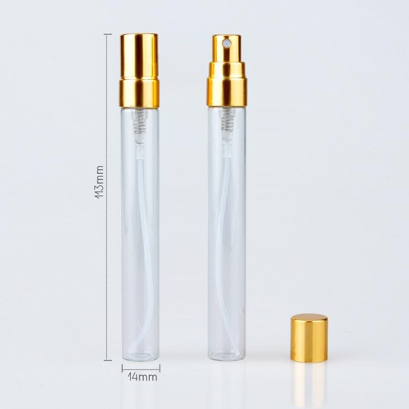 100Piece/Lot 10ml Refillable Perfume Bottle Empty Spray Bottle Aluminium Perfume Bottles Atomizer Cosmetic Travel Container