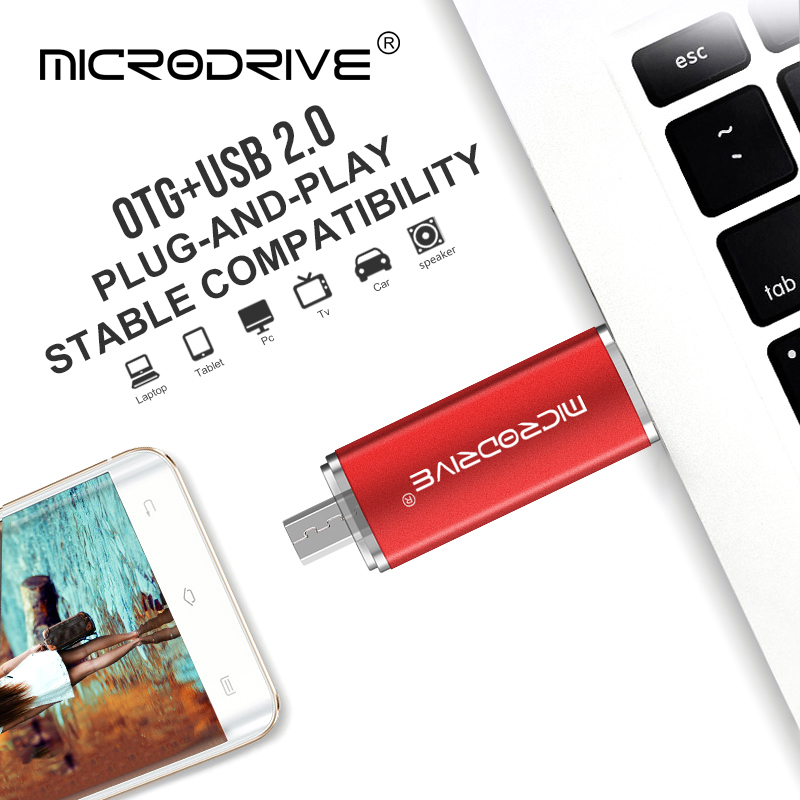 Image 4 - Colorful Smart Phone USB Flash Drive 32gb Pen Drive 64gb pendrive 16gb OTG external storage micro usb memory stick Flash Drive-in USB Flash Drives from Computer & Office