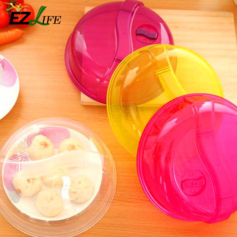Purple Yellow Clear Transpa Microwave Ventilated Plate Dish Food Cover Steam Vent Lid Hd0160