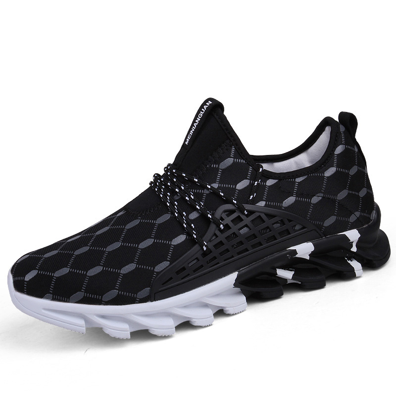 Footwear Lace-Up-Shoes Sport-Sneakers Outdoor Male Breathable Men's