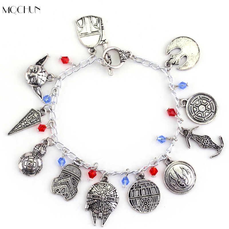MQCHUN Горячая фильм ювелирные изделия Звездные войны браслет для женщин мужчин металлический жесткий браслет с вставками из сплава косплей браслеты подарок