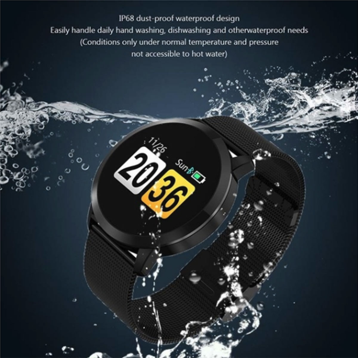Image 4 - Q8 Smart Watch OLED Color Screen Touch Control Smartwatch Men Women Thin light Fashion Fitness Tracker Heart Rate monitor-in Smart Watches from Consumer Electronics