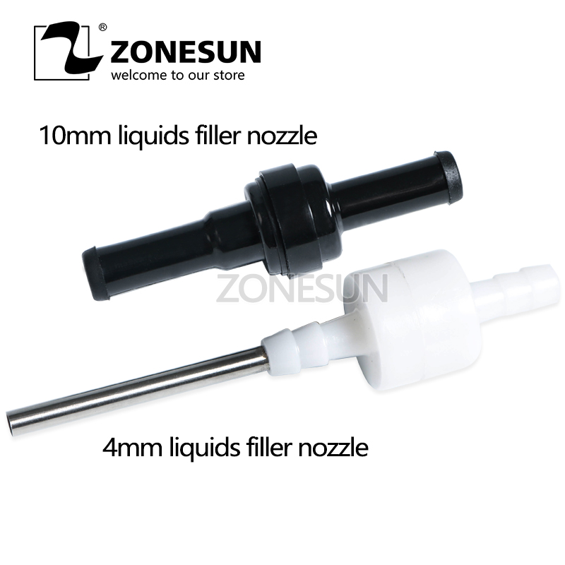 ZONESUN GFK-160 Small size filling machine nozzles for digital filling machine, tiny vials 5mm, liquid filler nozzle small bottle filling machine