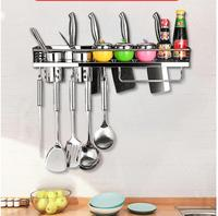 304 Stainless Steel Kitchen Stand Rack for Knife Holder Cooking Tool Shelf Spatula Spoon Pizza Cutter Towel Wall Mount