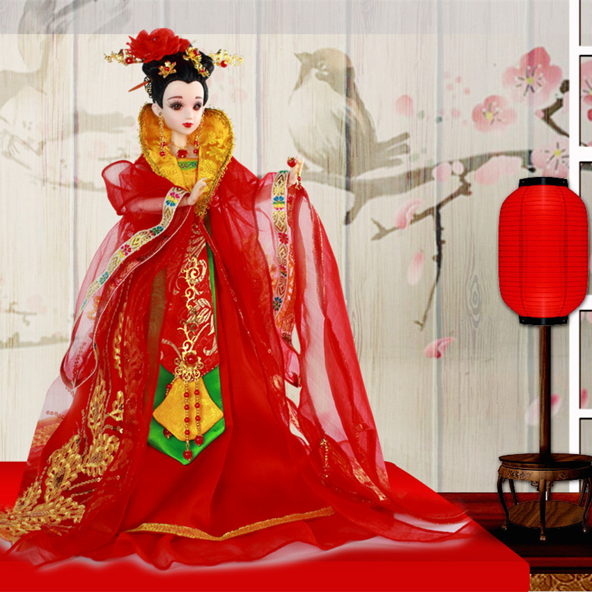 Fortune days bjd doll East Charm Elegant Lady Chinese style Tang Bride including clothes stand box 35cm headdress цена и фото