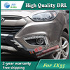 Free shipping !12V 6000k LED DRL Daytime running light case for Hyundai IX35 2009-2013 fog lamp frame Fog light Car styling