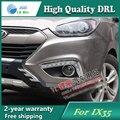 Frete grátis! 12 V 6000 k LED DRL luz de Circulação Diurna para Hyundai IX35 2009-2013 nevoeiro quadro lâmpada luz de Nevoeiro luz Car styling