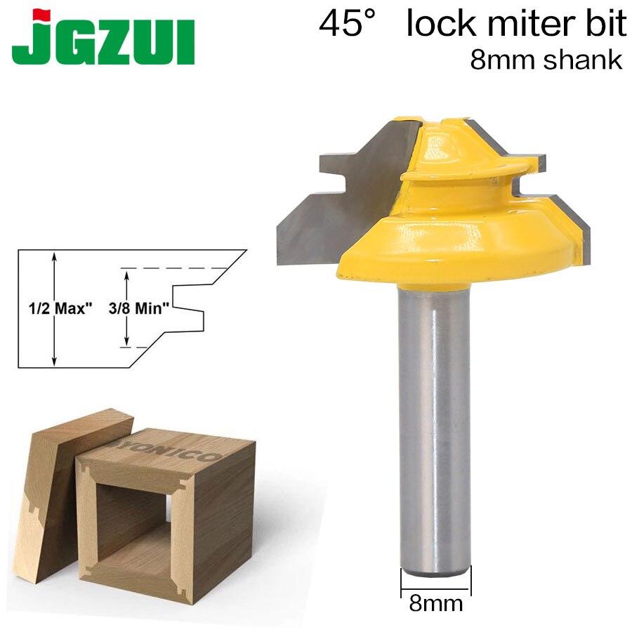 1Pc 45 stopni element mocujący do ukośnicy do frezowania 8 Cal Shank do obróbki drewna czop narzędzie do frezowania wiercenie frezowanie do stopu węglika drewna