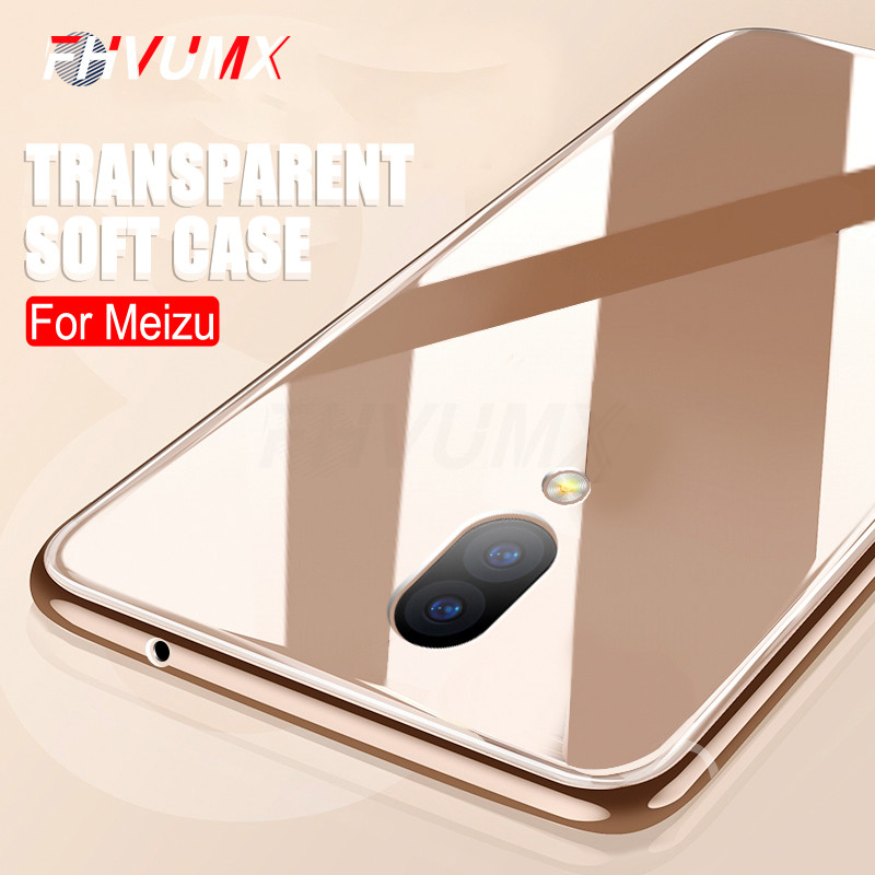 Transparent Soft Silicone Case For <font><b>Meizu</b></font> M5 M5S M6 M6S M15 M5 Note M6 Note 15 Lite 15 <font><b>16th</b></font> Plus Pro 7 Ultra Thin Phone Case Bag image