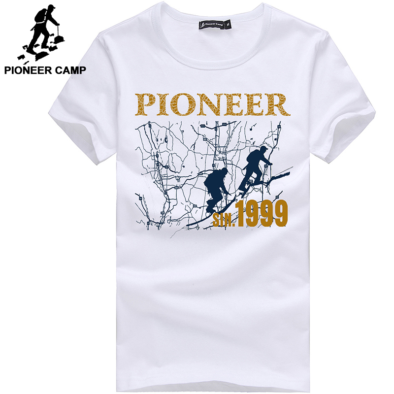 Pioneer Camp fashion men   t     shirt   brand clothing o-neck adolescent male   T  -  shirt   plus size short sleeve cotton Tshirt
