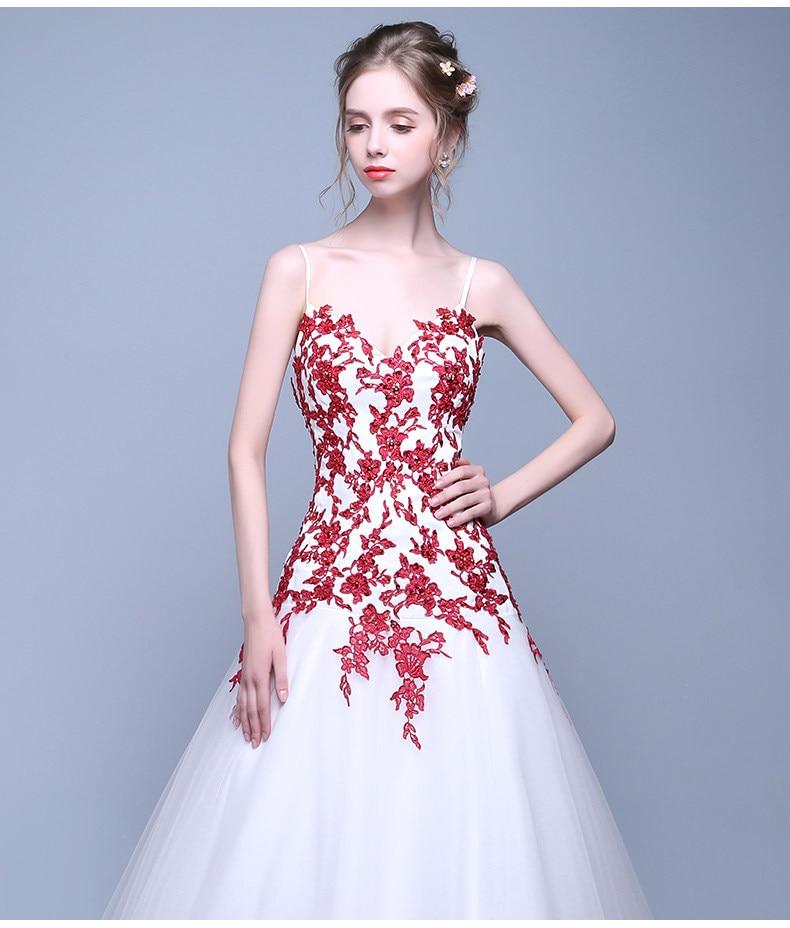 Vintage Rojo y Blanco Vestidos de Novia de Colores Trompeta Con ...