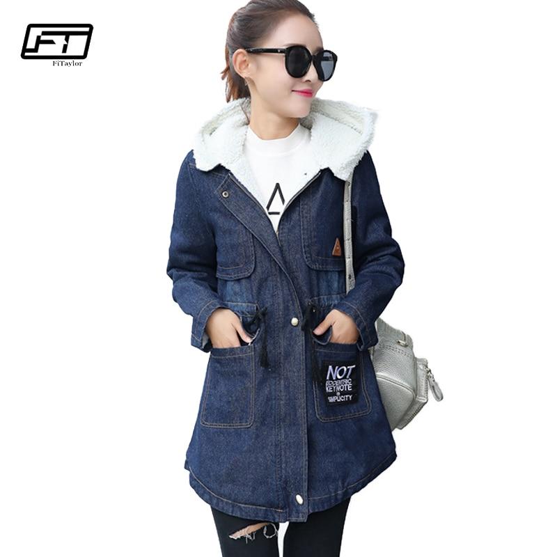 Fitaylor 2018 Мода Chaqueta Mujer зимний длинный абзац куртка с капюшоном Для женщин хлопок плюс Размеры 5xl Для женщин куртки пальто