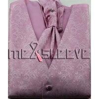Heißer verkauf MENS Polyester Smoking rosa paisley WESTE Fullback ALLE GRÖßEN Neue