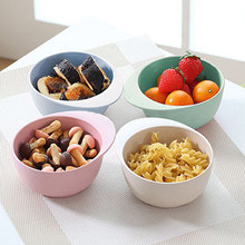 Cute cartoon Mickey children's plate creative high quality bamboo fiber noodle dish children fruit salad soup bowl(China)