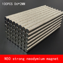 wholesale 100PCS D6*2mm mini round N50 Strong magnetic force rare earth Neodymium magnet diameter 6X2MM